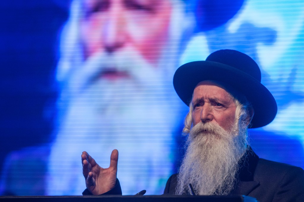 Rabbi Yitzchak Dovid Grossman, well-known for his philanthropic work, has been mentioned as a possible candidate  but has not confirmed he wants the job (Photo credit: Uri Lenz/FLASH90)