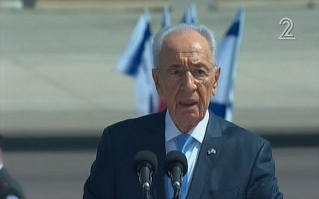 President Shimon Peres (image capture Channel 2)