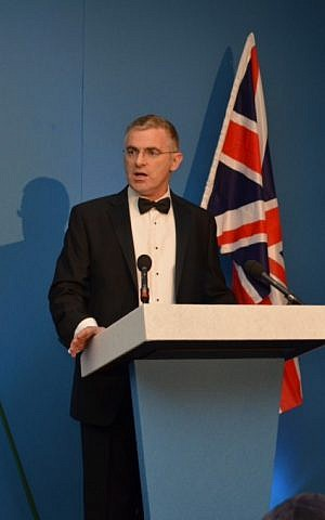 Israel's Ambassador to the UK Daniel Taub addresses the Zionist Federation event in London (photo credit: Courtesy Zionist Federation)