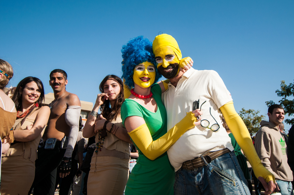 Raucous partying and crazy costumes at BGU's Purim (Courtesy BGU)