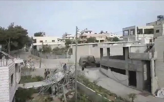 An IDF jeep overturns south of Bethlehem. (screen capture, Channel 2)