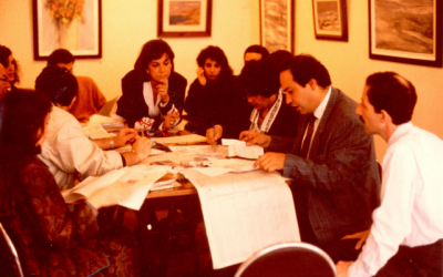 By the time this photo was taken in the '90s, Salom was being published mostly in Turkish. (Courtesy of Salom)