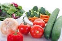 """Fresh vegetables, the """"raw"""" materials for the classic Israeli salad"""