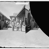 Waiting for the train at the station (Courtesy The First Station)