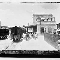 Historical photo of the train station, as it appeared in the late 1800s (Courtesy The First Station)