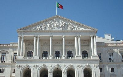 Portuguese Parliament building  (photo credit: CC BY-SA, Andrés Monroy-Hernández, Wikimedia Commons)