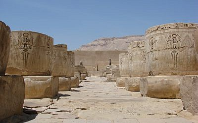 A plaza in Luxor, Egypt (photo credit: CC BY watchsmart/Flickr)