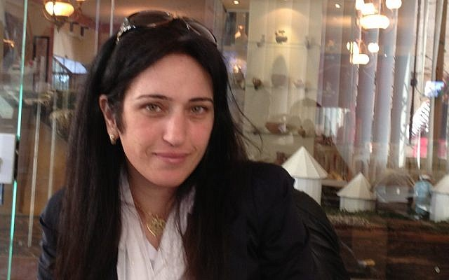 Palestinian journalist Badawiya Samiri (photo credit: Elhanan Miller/Times of Israel)