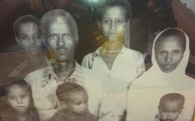 Teshome in between his parents, second from right, in a picture taken 32 years ago in the Sudan. (photo credit: Courtesy)