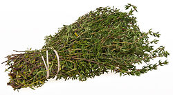 A bundle of thyme (photo credit: Evan-Amos/Wiki Commons)