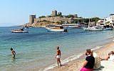 A beach in Bodrum, Turkey. (photo credit: CC BY-SA yilmaz ovunc, Flickr)