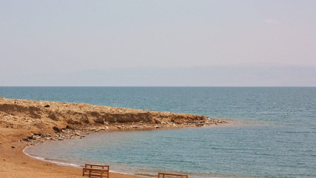 The Jordanian bank of the Dead Sea (photo credit: CC BY jemasmith, Flickr)