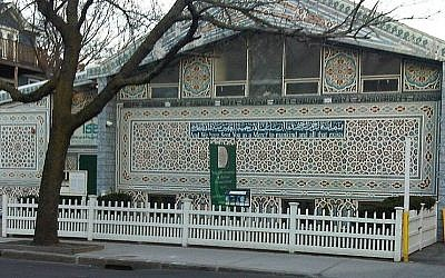 The Islamic Society of Boston mosque in Cambridge, MA. (photo credit: Wikimedia Commons, Qrsdogg)