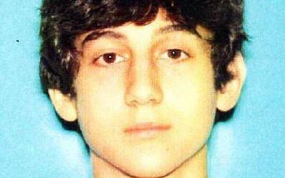 Dzhokhar Tsarnaev, 19, the suspected second Boston Marathon bomber, pictured here by the Boston Regional Intelligence Center. (photo credit: AP)