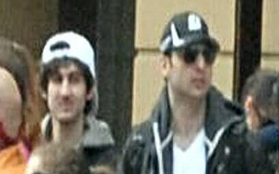 Brothers Tamerlan, right, and Dzhokhar Tsarnaev, pictured shortly before April 2013's Boston Marathon blasts (Photo credit: AP/Bob Leonard)