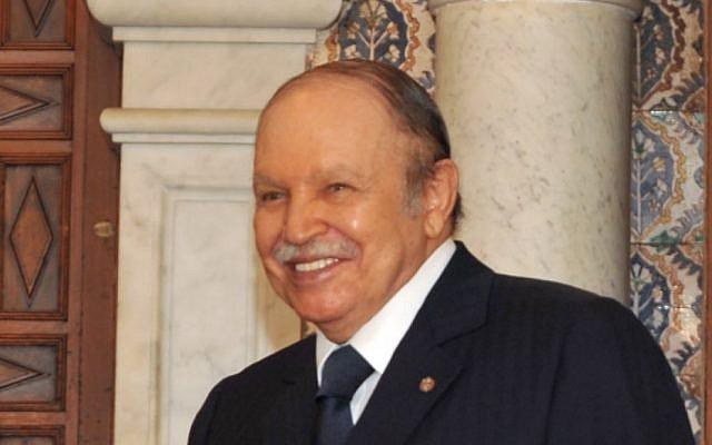 Algerian President Abdelaziz Bouteflika (photo credit: AP/Anis Belghoul)