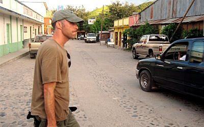 Filmmaker Boaz Dvir on location in Guatemala for his documentary on the fledgling Israeli Air Force. (photo credit: Courtesy Boaz Dvir/JTA)