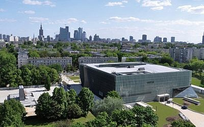 Aerial view of the new Museum of the History of Polish Jews, in Warsaw (photo credit: courtesy)