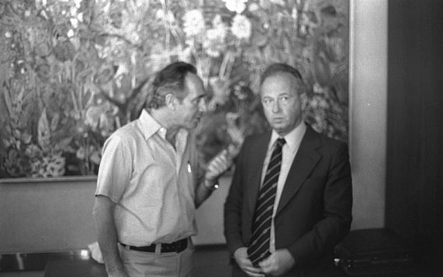 Shimon Peres and Yitzhak Rabin (photo credit: courtesy GPO)