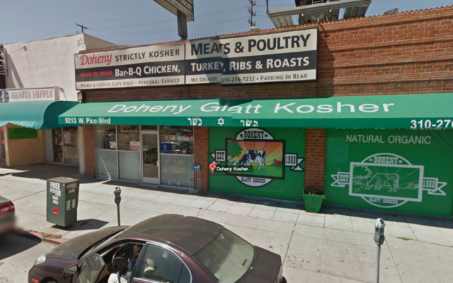 Doheny Glatt Kosher Meats is under new management soon after being shut down because its owner smuggled uncertified meat into the popular Los Angeles market (photo credit: JTA)