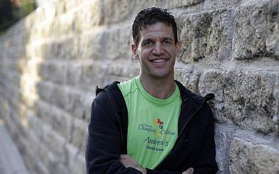 Marathon runner Joe Berti poses for a photo in Austin, Texas on Thursday (photo credit: AP/Eric Gay)