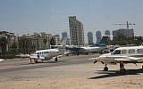 Sde Dov Airport in Tel Aviv. (Yossi Zamir/Flash90)