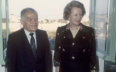 Margaret Thatcher with Yitzhak Shamir in Jerusalem in 1986. (photo credit: Yossi Zamir/Flash90)