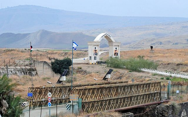 A border crossing near Naharayim where seven girls were murdered in 1997 by a Jordanian soldier while visiting a nearby power station (photo credit: Shay Levy/Flash90)