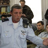 Then-chief rabbi of the IDF Rafi Peretz is seen on February 23, 2012. (Gershon Elinson/ Flash90/ File)
