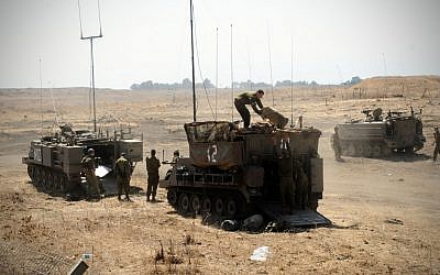 Soldiers during a surprise drill in the Golan Heights in September 2012. (photo credit: Shay Wagner/IDF/Flash90)
