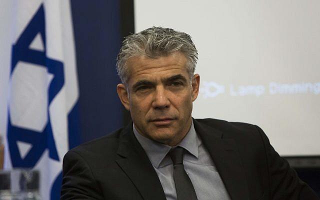Finance Minister Yair Lapid (photo credit: Yonatan Sindel/Flash90)