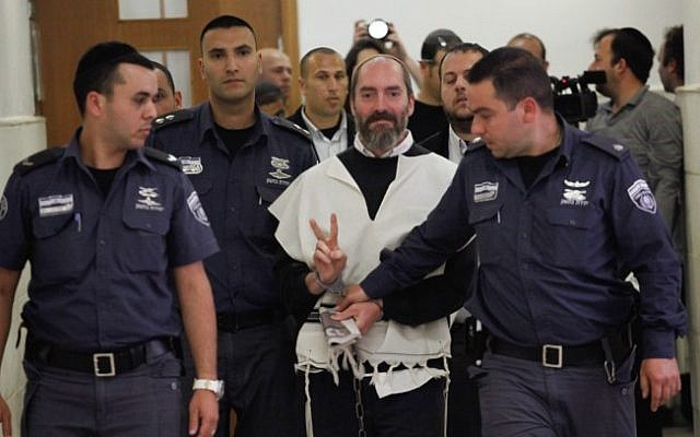 Jack Tytell in Jerusalem District Court in April (photo credit: Flash90)