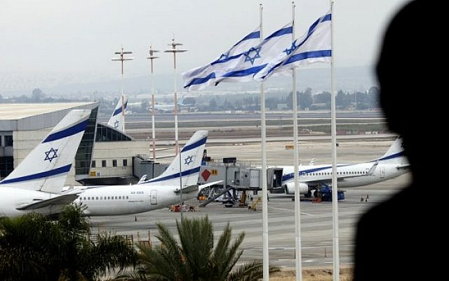 El Al jets parked on the tarmac of Ben Gurion International Airport. (Flash90)