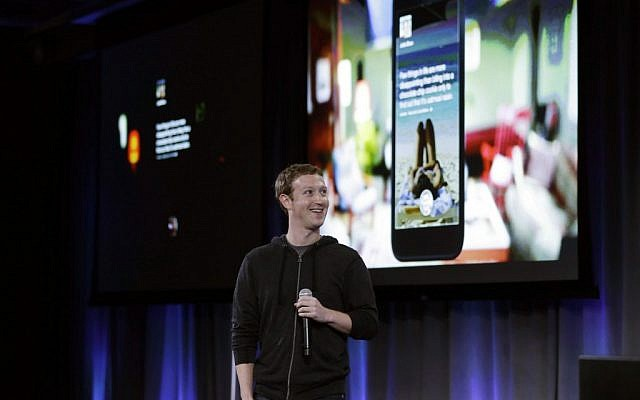 Facebook CEO Mark Zuckerberg speaks at the company's headquarters in Menlo Park, Calif., Thursday, April 4, 2013 (photo credit: AP/Marcio Jose Sanchez)