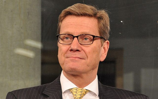 German Foreign Minister Guido Westerwelle (photo credit: CC BY-SA Christliches Medienmagazin/Wikimedia Commons)
