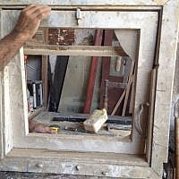 The window frame is in (Courtesy Shira Wise)