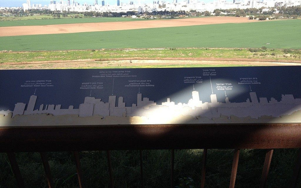 Identifying each and every building in the Tel Aviv skyline (photo credit: Jessica Steinberg/Times of Israel)