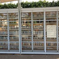 The Garden Library for Refugees and Migrant Workers in Levinsky Park (photo credit: Jessica Steinberg)
