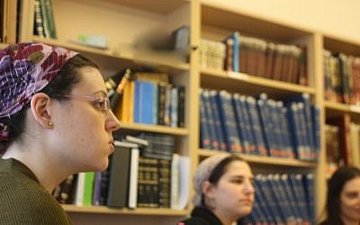 Students at the Yeshivat Maharat liberal Orthodox seminary for women. (Chavie Lieber/Times of Israel)