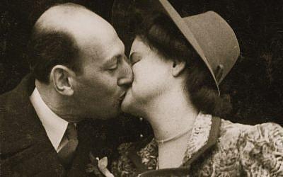 Jack and Ina Polak's 1946 wedding portrait. (photo credit: courtesy)