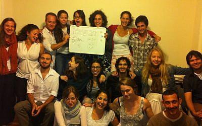 The Israelis at Berklee this year celebrating a holiday. (photo credit: Itai Meshorer)
