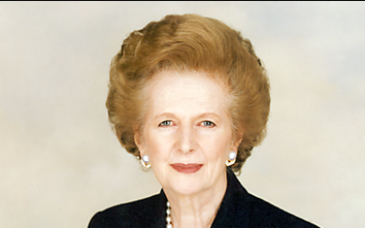Margaret Thatcher (photo credit: CC-BY-SA 	Margaret Thatcher Foundation)