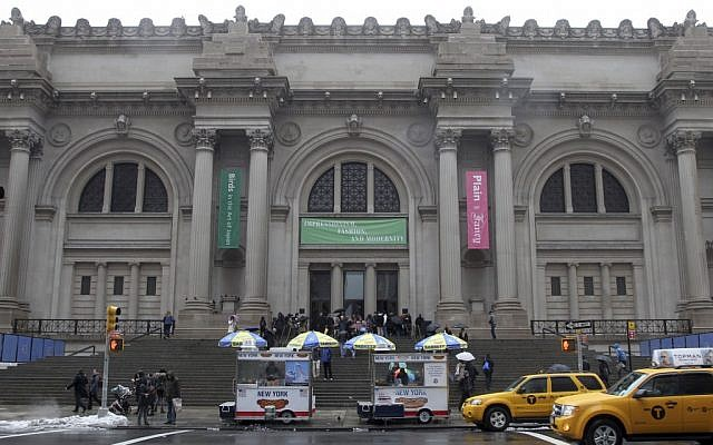 The exterior of the Metropolitan Museum of Art in New York. (photo credit: AP Photo/Mary Altaffer, File)