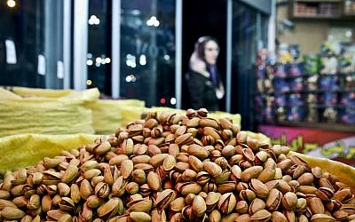 Pistachios are seen at a nut shop in western Tehran, Iran. (AP Photo/Ebrahim Noroozi)