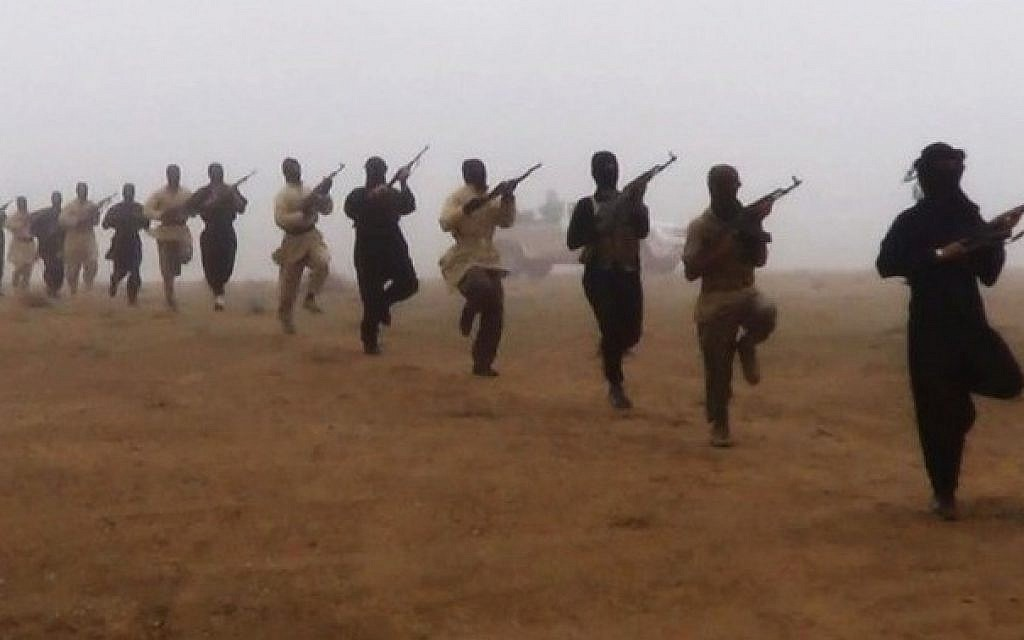 Illustrative photo of terrorists training. (photo credit: AP)