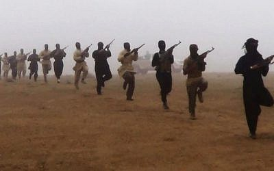 Illustrative photo of terrorists training. (photo credit: AP)