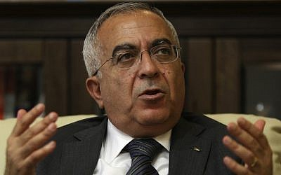 Former Palestinian prime minister Salam Fayyad in June 2011 (AP/Majdi Mohammed)