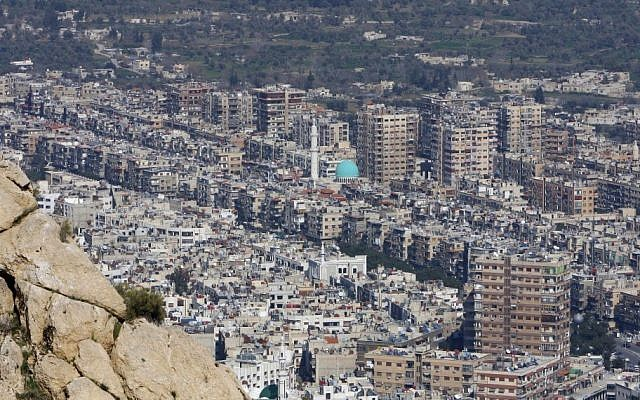 This photo, taken in 2012, shows a general view of Damascus. (photo credit: AP Photo/Muzaffar Salman, File)