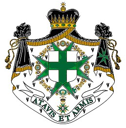 "The order's motto means, ""With ancestors and arms"" (Courtesy of the Order of St. Lazarus)"
