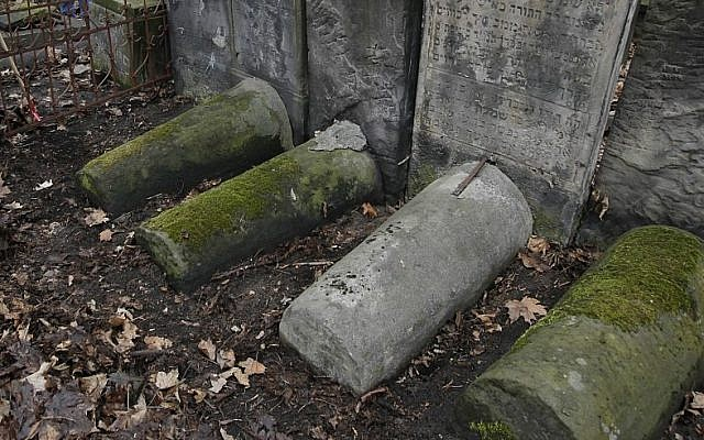Illustrative photo of graves in Jewish graveyard in Poland (Illustrative photo credit: AP Photo/Czarek Sokolowski)